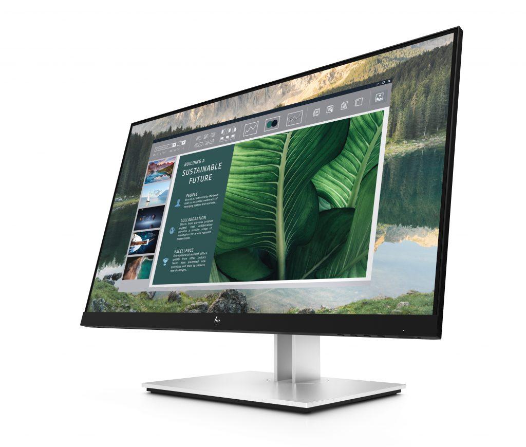 Monitor na apresentação da HP na CES 2021