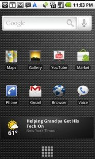 Nexus One Screen Google Phone