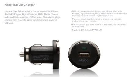 elago - Adaptador USB para carros