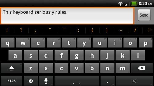 500x gingerbreadkey - Instale o novo teclado do Gingerbread em qualquer smartphone Android
