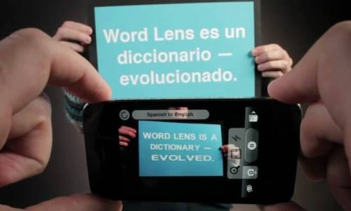 worldlens 500x301 - Aplicativo para o iPhone traduz imagens da câmera em tempo real