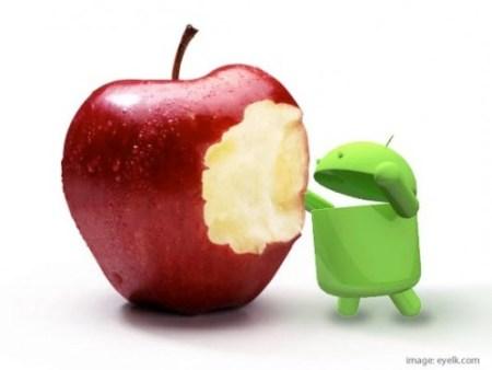 android vs apple eyelk 500x375 - Virada: usuários de smartphones Androids superam iPhones nos Estados Unidos