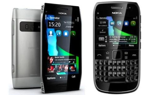 nokia e6 x7 500x306 - Vídeos: Nokia X7 e E6 com Symbian Anna (Pr2)