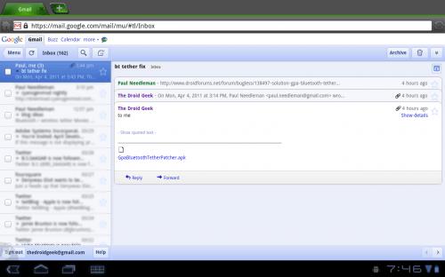 xoom dolphin gmail 500x312 - Dica: como ver sites para iPad no Motorola Xoom