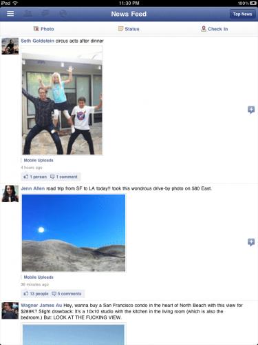 """facebook ipad 2 375x500 - App oficial do Facebook para iPad """"vaza"""" junto com atualização do app para iPhone"""