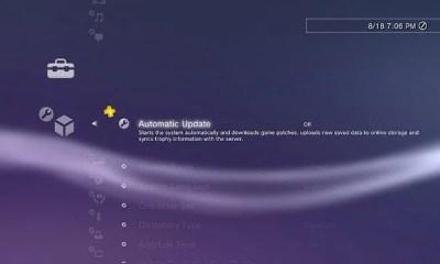 AutoUpdate - PS3: Atualização do sistema