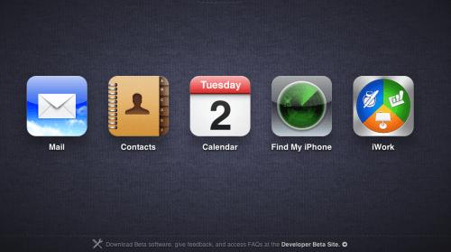 CapturFiles 500x279 - iCloud.com entra no ar com interface muito parecida com o iOS