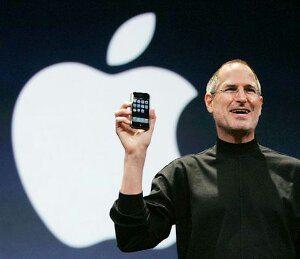 Steve Jobs anunciando o primeiro iPhone e seu botão home em 2007