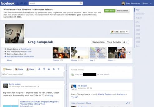 "facebook timeline 610x425 - Facebook: como ligar o novo ""Timeline"" (tutorial)"