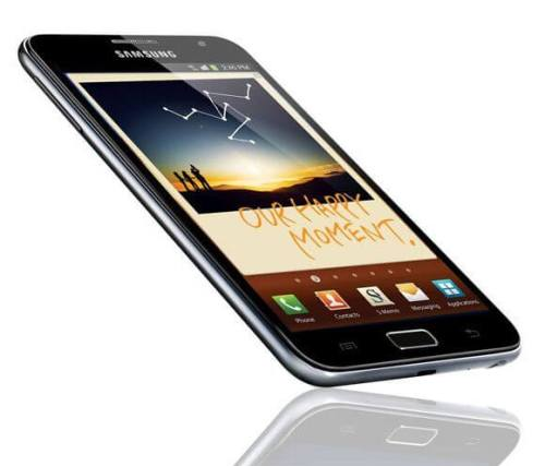 samsung galaxy note 1 500x427 - Samsung Galaxy Note: 5,3 polegadas de smartphone