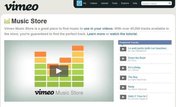vimeo music store 610x371 - Vimeo lança sua Loja de Músicas para produtores e diretores