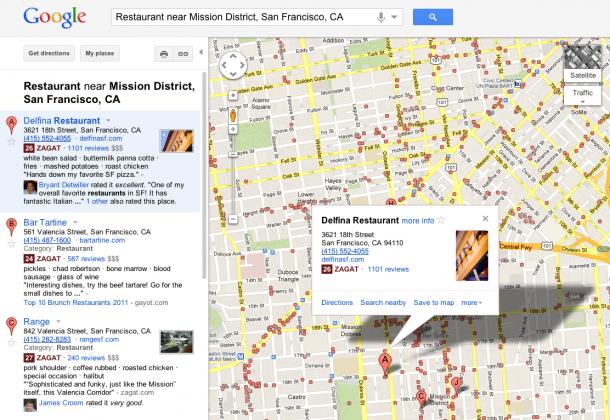 Google Maps Delfina 610x420 - Primeiras impressões do novo recurso Google+ Locais