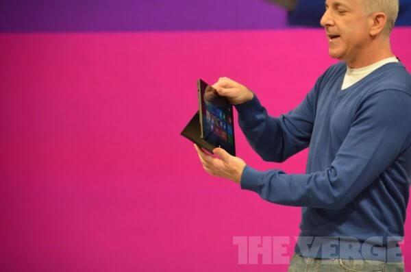 verge lb 910 - Veja detalhes sobre os novos tablets da Microsoft (ao vivo)