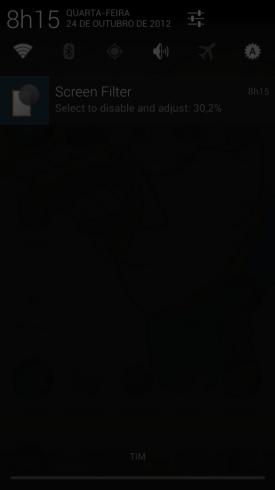 Screen Filter - Screenshot Desativação