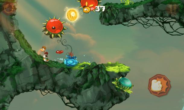 Screenshot 2012 12 26 10 54 40 610x366 - Rayman Jungle Run recebe atualização com melhorias, novas fases e desafios.
