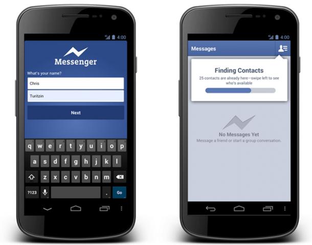 facebook messenger for android 610x480 - Facebook Messenger dispensa cadastro em nova atualização