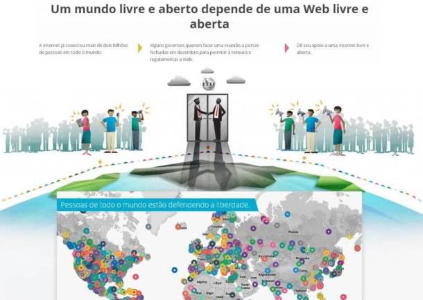 internet livre 610x433 - Google inaugura site sobre Internet aberta