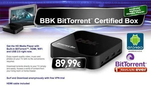bbk bitorrent4 - Empresa cria set-top box que faz download e streaming de Torrents