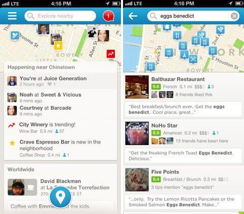 Foursquare em 2013