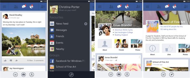 facebook wp8 beta 720x296 - Facebook para Windows Phone ganha grande atualização