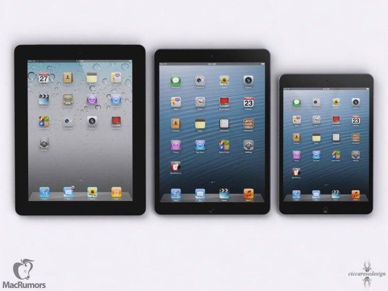 macrumors ipad5c 800x600 - iPad 5 será 15% mais fino e 25% mais leve que o atual e terá processador A7X