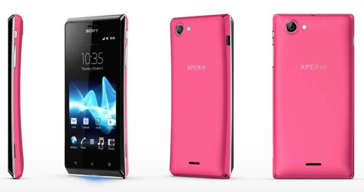 sony xperia j pink 720x381 - Sony lança smartphone Xperia J na cor rosa para o Dia das Mães