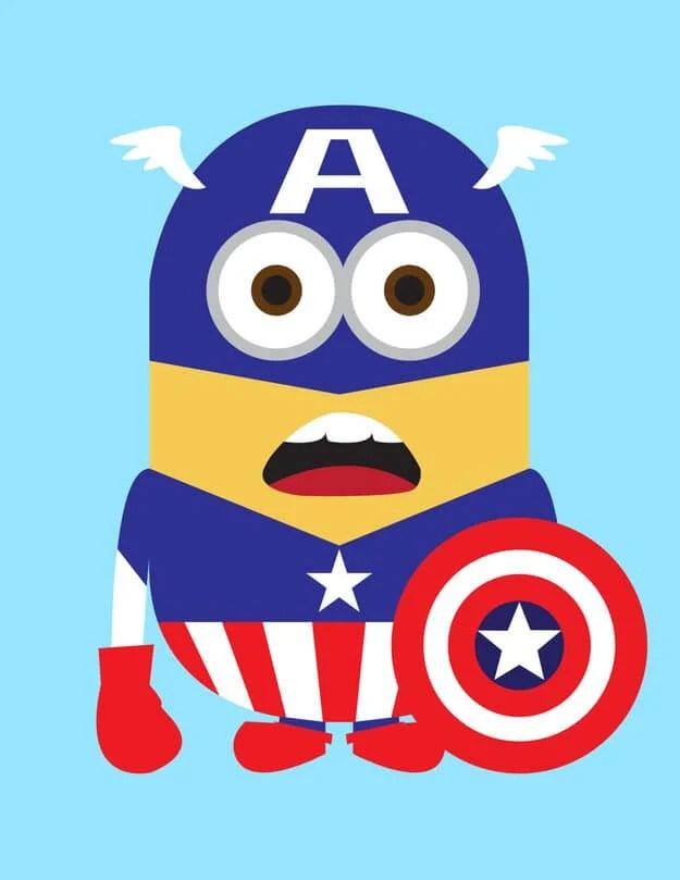 Minion Capitain Amerian