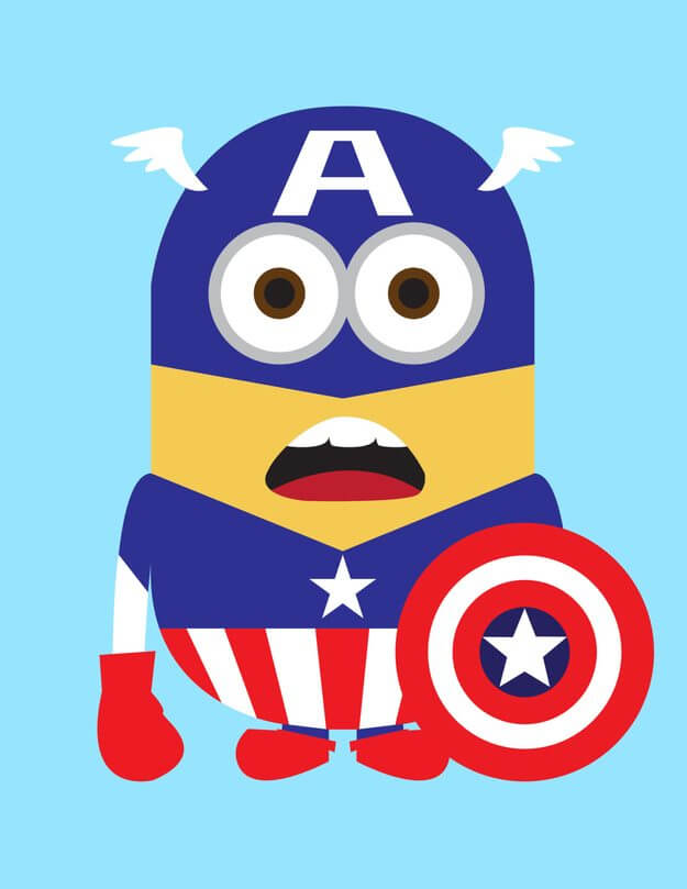 Minion Capitain Amerian