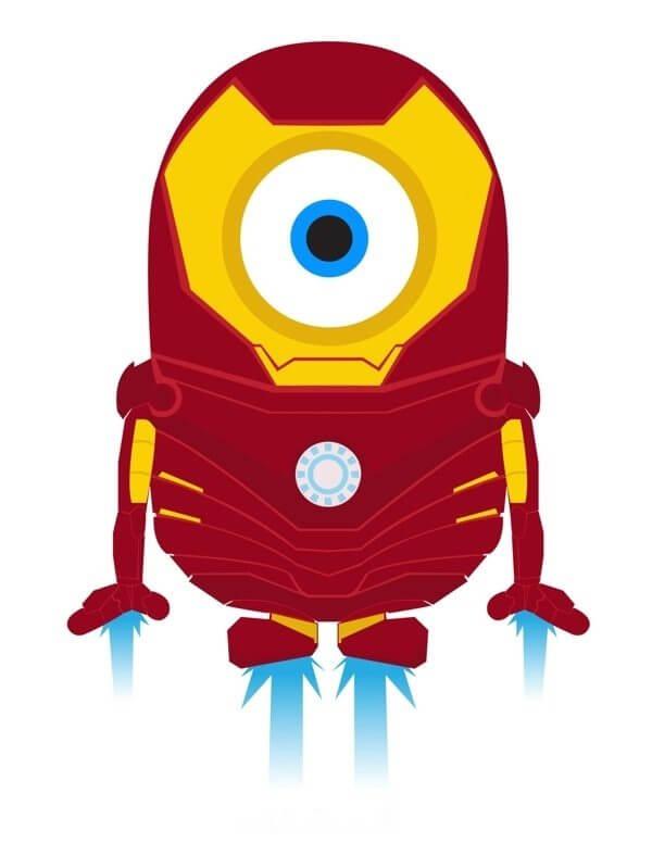 Minion ironman1 - Minions ganham versões de super-heróis da Marvel e DC