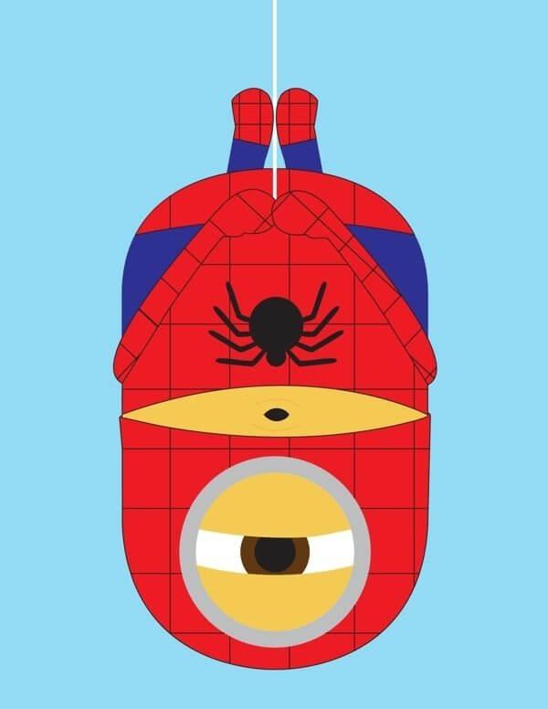 Minion spiderman - Minions ganham versões de super-heróis da Marvel e DC