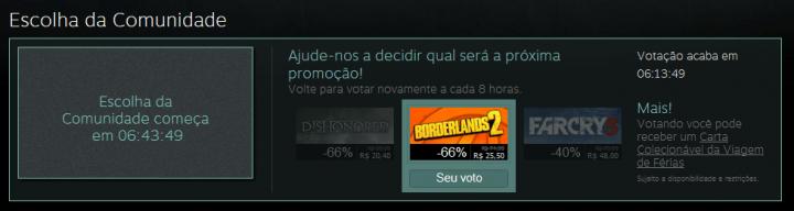escolha da comunidade 720x192 - Steam Summer Sale 2013: enfim começa a promoção do ano na loja da Valve
