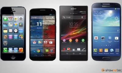 Comparativo smartphones Apple iPhone 5 Sony Xperia ZQ Samsung Galaxy S4 Motorola Moto X - Venda de smartphones dispara no terceiro trimestre