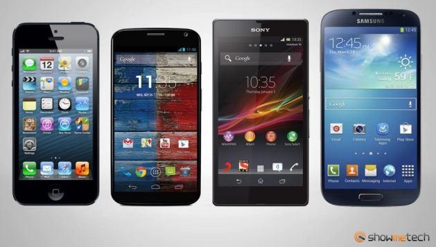Comparativo smartphones Apple iPhone 5 Sony Xperia ZQ Samsung Galaxy S4 Motorola Moto X