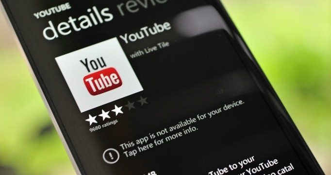 YouTube Pulled Windows Phone - Google e Microsoft brigam por causa do  app do YouTube, de novo