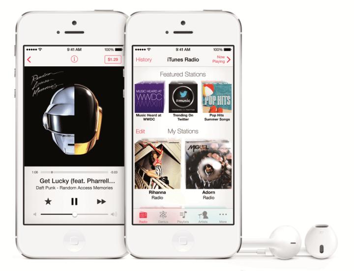 iPhone5 2up PF Wht Earpods iTunesRadio PRINT 720x552 - iTunes Radio estreará em setembro com grandes anunciantes