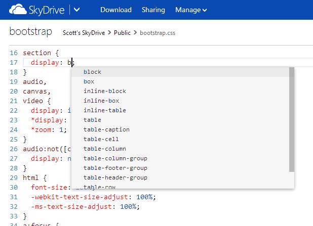 skydrive code editor1 - SkyDrive terá que mudar de nome, mas segue adicionando funções