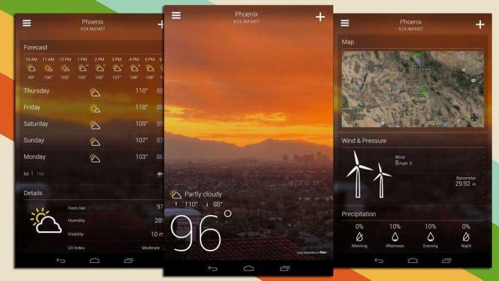 yahoo tempo nova interface 720x405 - Atualização do Yahoo! Tempo traz nova interface ao Android