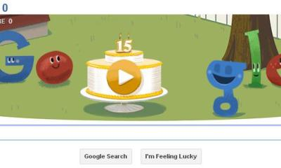 Google 15 Anos doodle