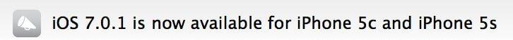 iOS7.0.1 - Primeira atualização para o iOS 7 já está disponível