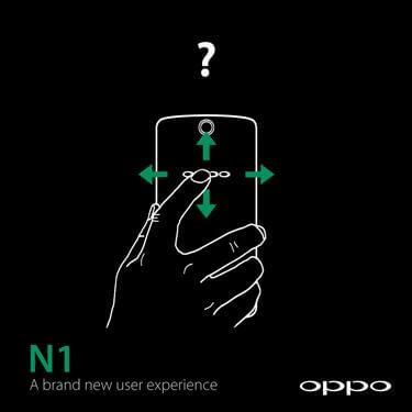 oppo gestures fundo - Oppo N1 é o smartphone com a ROM CyanogenMod nativa