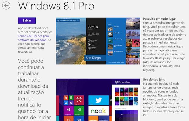 Atualização Windows 8.1 update 2