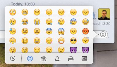 emoji - OS X Mavericks: as novidades mais interessantes