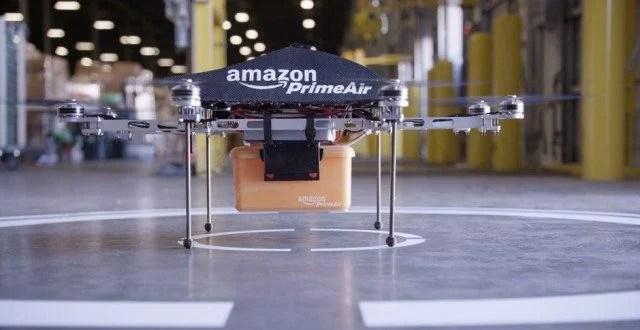 A empresa norte-americana Amazon já estuda fazer entregas com Drones.