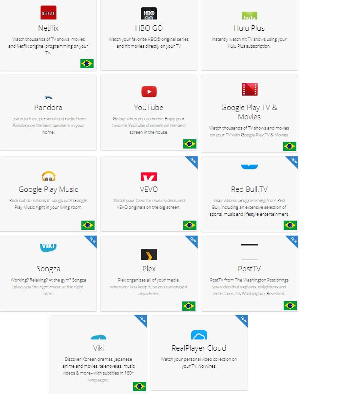 Apps Chromecast - Review Chromecast: vale a pena ter um?