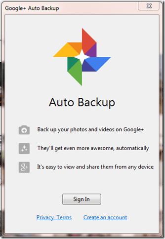 picasabackup thumb - Picasa é atualizado com backup automático na nuvem