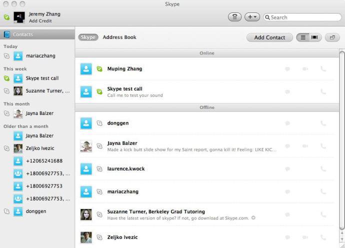 Skype Mac 720x518 - Especial: A vida com um Mac - Usando um Mac para trabalho