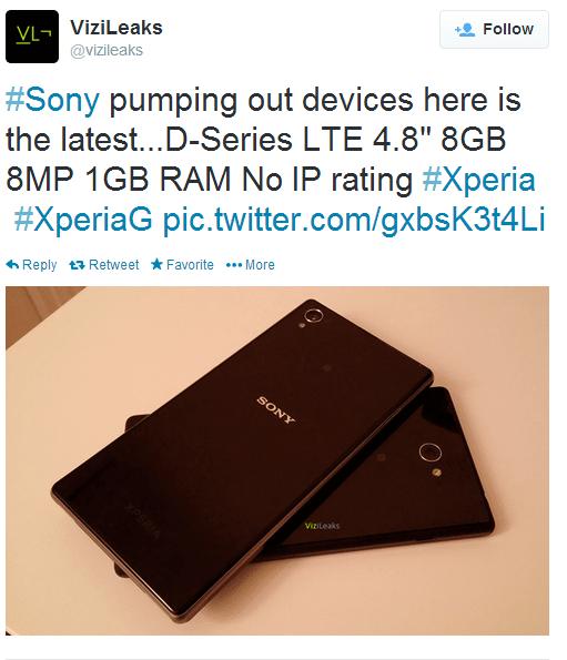 ViziLeaks vaza o Xperia G possível novo smartphone da Sony. - Confira o Xperia G: O Possível Concorrente da Sony para o Moto G!