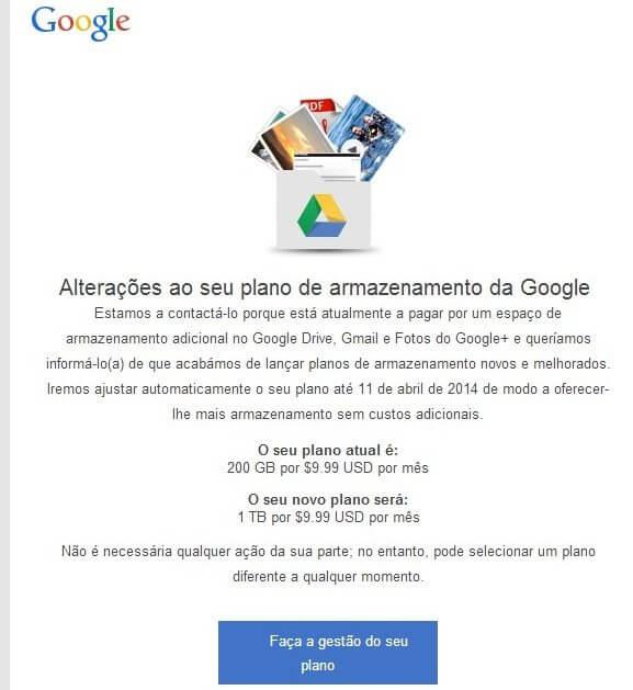 google drive storage