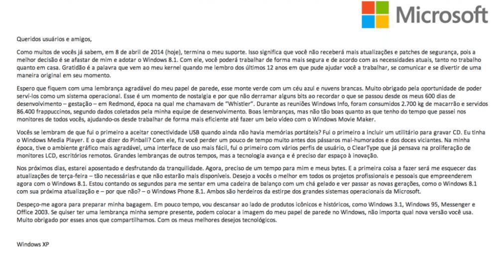 Captura de Tela 2014 04 08 às 17.30.03 - Microsoft divulga carta de despedida do Windows XP