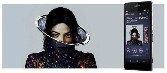 Z2 michael jackson 2 720x315 - Sony Xperia Z2 virá com novo álbum de Michael Jackson
